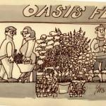 Le fleuriste -Lavis