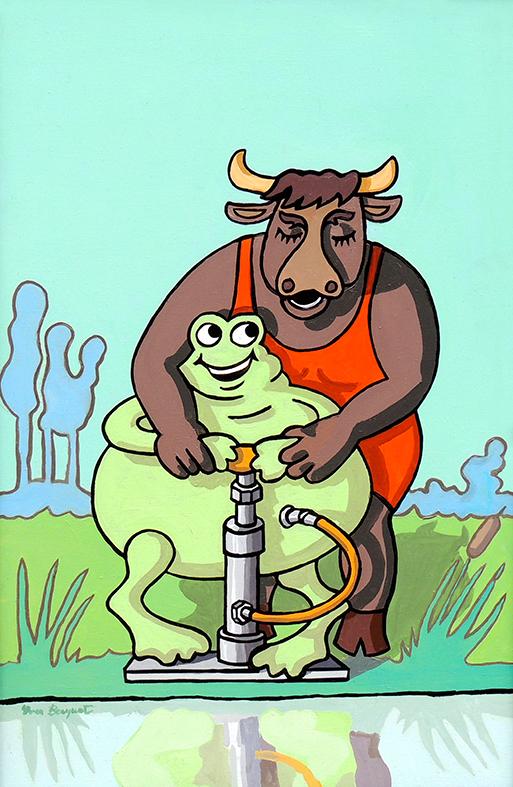 Fabuliste yves becquet - Image la grenouille et le boeuf ...