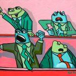 grenouilles en colere