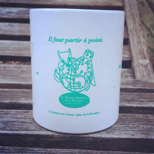 """Mug vert """"il faut partir à point"""""""