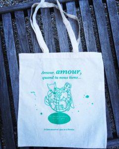 """Coton bio, vert, """"amour, amour, quand tu nous tiens"""""""
