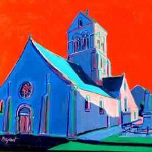 Eglise de Fossoy 60 x 50 cm