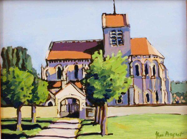 Eglise de Mezy-Moulins 60 x 50 cm