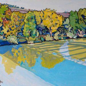 Jaulgonne l'ombre du pont 60 x 50 cm